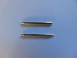 Nikkel push pins, dik 1.8 mm. per 2 stuks