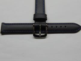 Rundleren blauwe horlogeband 14 mm.