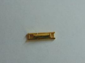 Double klapslot met veertje 3 mm.