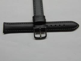 Rundleren zwarte horlogeband 14 mm.