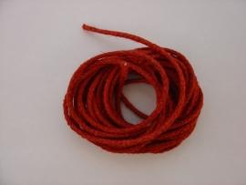 Comtoisekoord rood 3 mm.