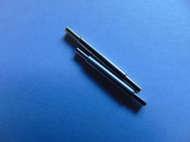 1 Paar negatieve push pins voor horlogebanden 15/19 mm.