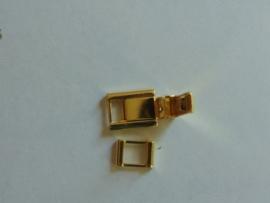 Double klapslot met veertje 4 mm.