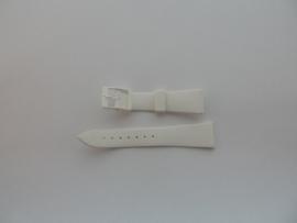 Witte kunststof horlogeband