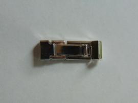 Chroom klemslot met veertje 8.5 mm.
