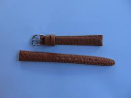 Bruine leren horlogeband 12 mm.