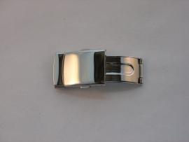 Stalen klapsluiting voor leren band 16 mm.