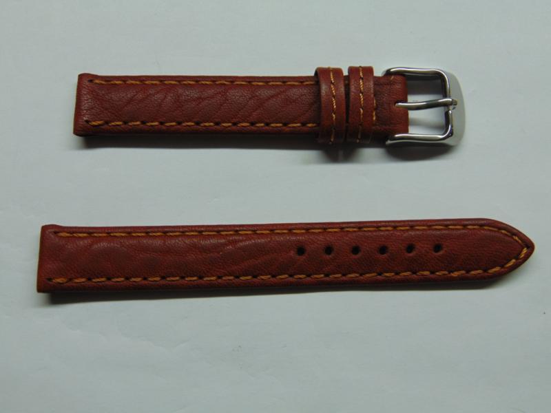 bruine leren horlogeband 14 mm.