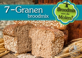 Molen meergranenbrood Broodmix 500gr