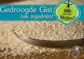 Gist (gedroogde Korrels) 125 gram (bruggemans)