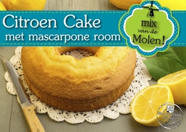 Citroen Mascarpone Cake mix 425gram