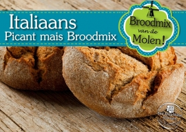 Italiaans Picant Mais Brood Broodmix 500gram