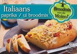 Italiaans Paprika/Uien Broodmix 500gram