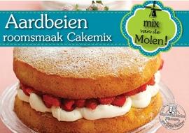 Aardbeien Cakemix met roomsmaak 425 gram