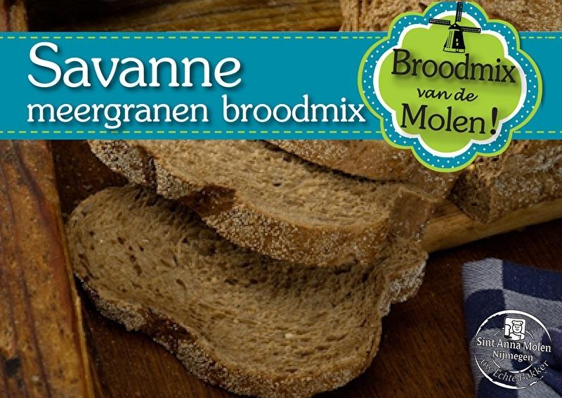 Savanne Meergranen Broodmix 500gram