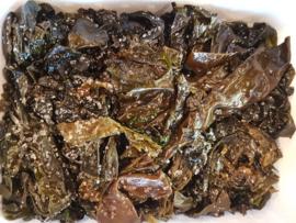 Zeewier / Gezouten zeewieren / Kombu Royal / biologisch- Bretagne / bakje 100gram / t.h.t. 21-10-2019