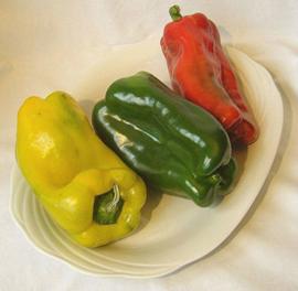 Paprika, geel van Sicilië |  Peperoni gialli  | 500gram ( groot, ca 1 stuks)