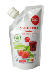 Aardbeien Pureé | Fruit Rouges &Co | zak 500ml