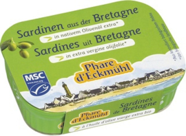 Sardines uit Bretagne in extra vergine olijfolie  / Phare d'Eckmühl / blikje 115g / t.h.t. 12-2023