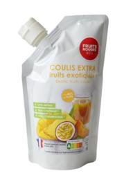 Exotische Coulis | 85% fruit - 15% suiker | Fruit Rouges &Co | zak 500ml / t.h.t. 23-06-2022
