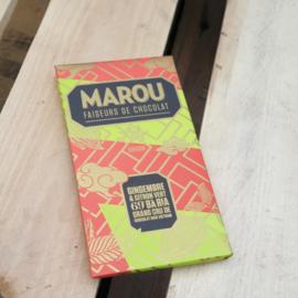 Marou Gingembre & citron vert 69% Bà Ria / gember & limoen / reep 100gr