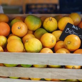 BITTERSINAASAPPEL   Sevilla sinaasappel   pomerans   ARANCE AMARE   teelt biologisch   Spanje    doos CA 9 KG