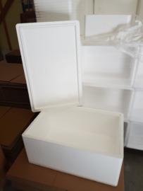 Tempex dozen met deksel groot / EPS / Polystyreen / 4 stuks + deksel
