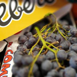 Druif | Muscaat d'Albert druiven | Blauw - met pit |Teelt: eko-Frankrijk | 400gram