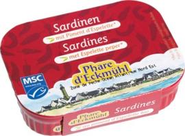 Sardines met Espalette peper, Phare d'Eckmühl \ blikje 135 gram / t.h.t. 02-2021