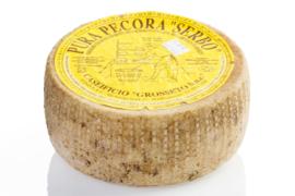 Pecorino (van schapenmelk) uit de Toscaanse Maremma, gerijpt. / 500gram / t.h.t. 30-01-2021