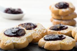 Margherite met kers  / margherite alla ciliegia / Italiaanse koekjes / 200 g / t.h.t 30-11-2020