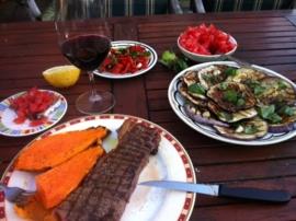 Aubergine rond / Melanzane violette rotonde / ronde grote aubergine / Sicilië / teelt: traditioneel / 1 Stuks (ca 500gram)