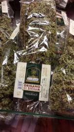 Oregano / Gedroogde wilde oregano aan de tak / Bio- Sicilië / bosje gedroogd ca 25gram