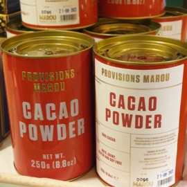 Marou Provisions | Chocolade cacao poeder / cacao powder / in blik-tin / t.h.t. 21-08-2022 | 250gram