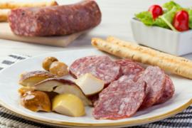 Salami op Toscaanse wijze, klein 300 g (+haak) / Salamino Oro / Italie-Toscane / t.h.t. 01-11-2020
