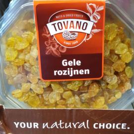 Rozijnen geel | 200gram | Zuid-Afrika | Bakje 200gram