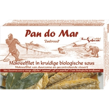 Makreel in KRUIDIGE SAUS / Spanje / Bio / Lijngevangen / 120gram / t.h.t. 06-04-2022
