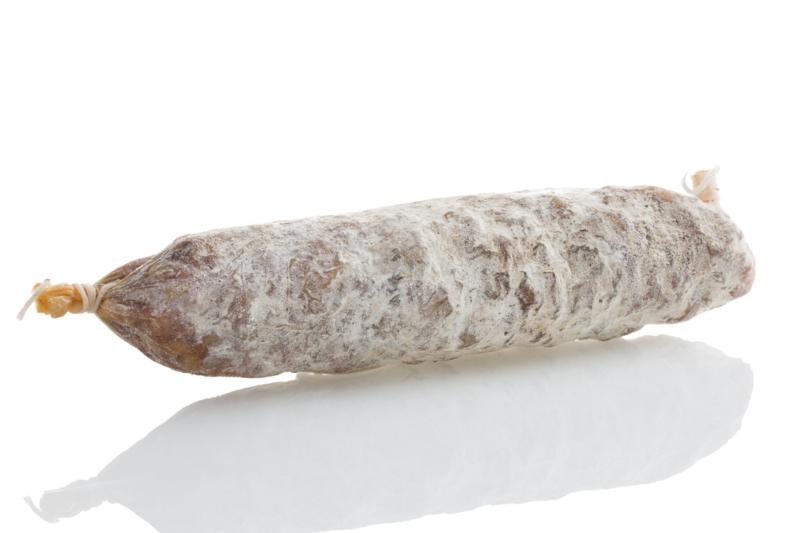 Cacciatore DOP   Kleine salami met knoflook en peper    200gram   1stuks /  t.h.t. 30-01-2020