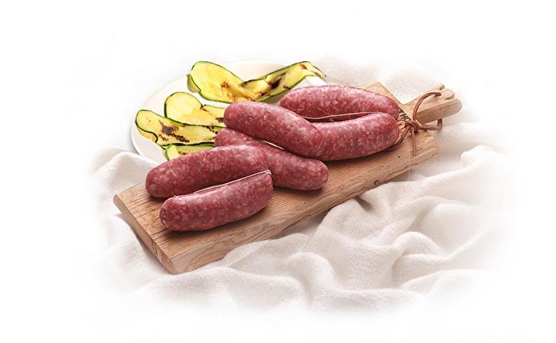 Salsiccia / Verse worst van varkensvlees /  verse salami-worst / Emilia Romagna-Italie /  +/- 500 g (.125 g x .4) / vanaf 18 augustus leverbaar