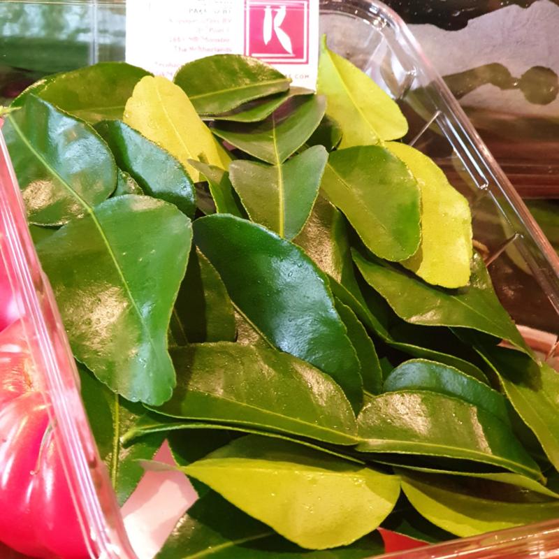 Kaffir blad / Vers / Kaffir / Lime leaves / Lemonblad / Koppert cress - NL   schaaltje (25 blaadjes)