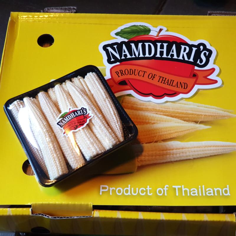 Mais / minimais / babymais / Teelt regulier - Thailand / schaaltje 125gram
