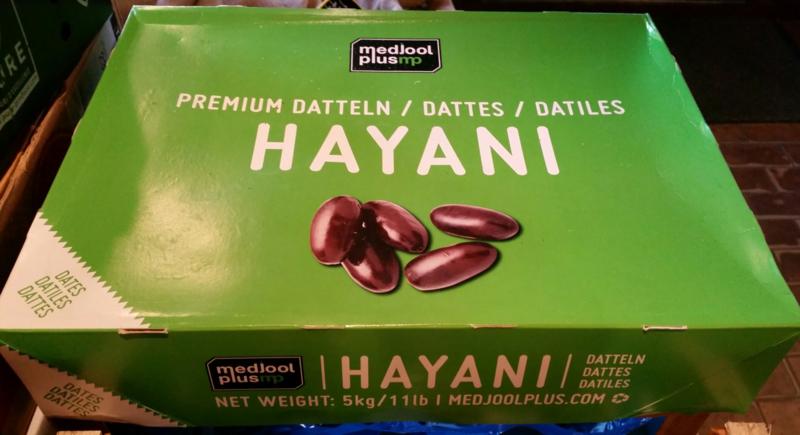 Hayani dadels | Verse natuurlijke dadels | Teelt: regulier-Israel |  Ontdooit product | doos 5 kilo