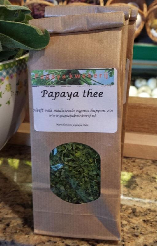 Papaja thee / gedroogde bladeren thee van papaya / zakje a 30gram / VOORLOPIG UITVERKOCHT