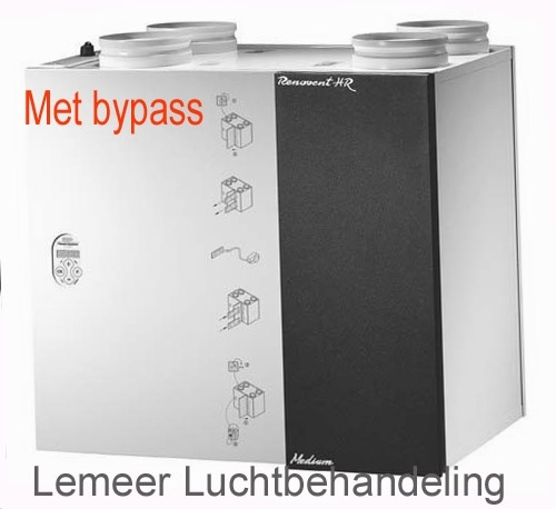 Brink Renovent HR 250/325 Mm/l (met bypass)     Flexivent 300/400 filters (10 sets)   afmeting 49,5 x 23,5 cm