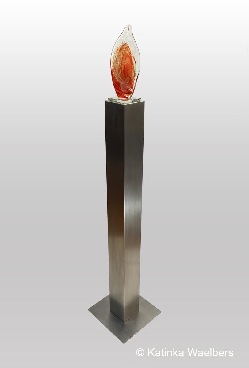 beeld glas crematie as