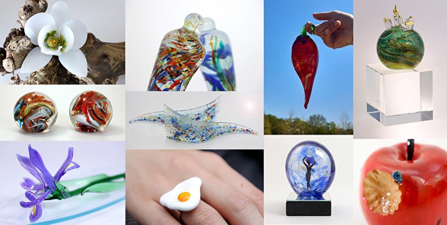 Glaskunst glasblazerij Katinka Waelbers Glass Art