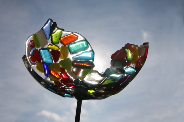Glazen bloem Katinka Waelbers glaskunst