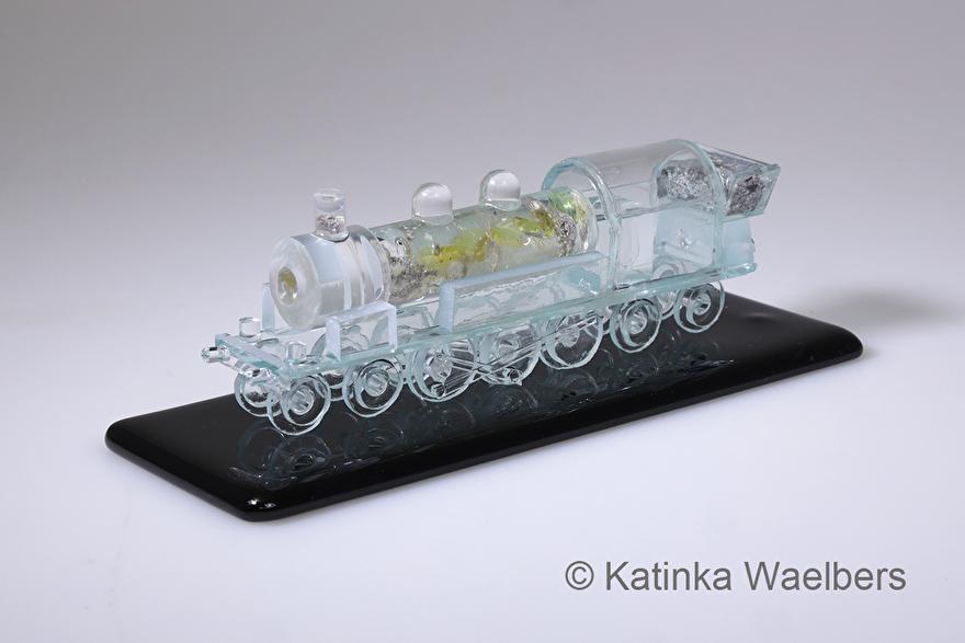 locomotief glas glaskunst