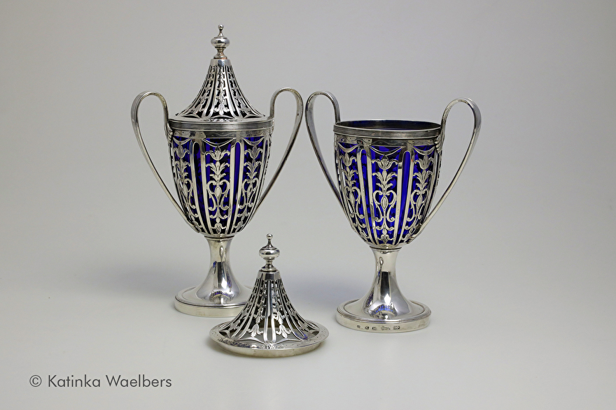 restauratie glas antiek zilver
