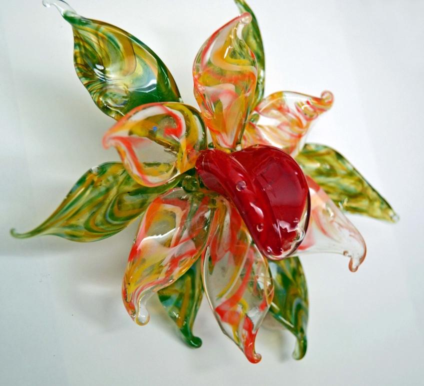 Glazen bloem glaskunst katinka waelbers